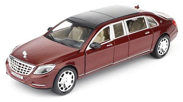 โมเดลรถเหล็ก โมเดลรถ Benz S600 red 1