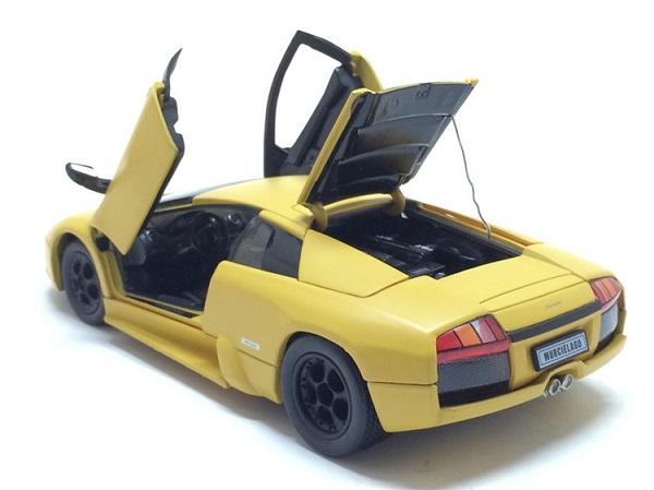 โมเดลรถ โมเดลรถยนต์ โมเดลรถเหล็ก Murcielago yellow 5