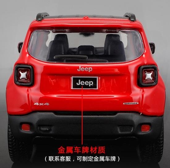 โมเดลรถเหล็ก โมเดลรถยนต์ Jeep Renegade red 5