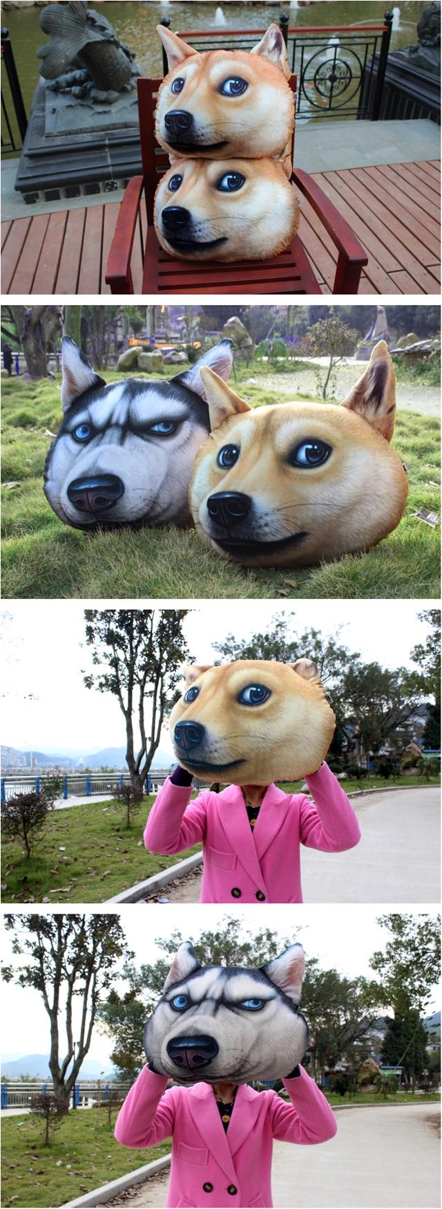 หมอนอิง รูปสุนัข 3D ขนาด 50x40 cm