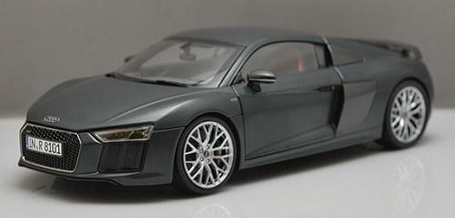 โมเดลรถ โมเดลรถเหล็ก โมเดลรถยนต์ Audi R8 V10 2017 grey 1
