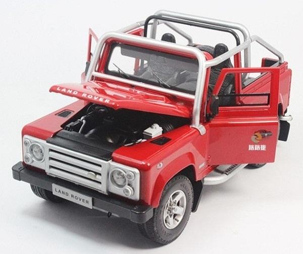 โมเดลรถ โมเดลรถเหล็ก โมเดลรถยนต์ Land Rover Defender SVX red 4
