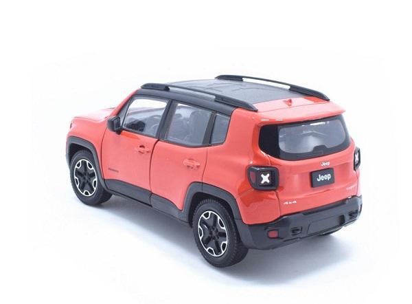 โมเดลรถเหล็ก โมเดลรถยนต์ Jeep Renegade Trailhawk red 2