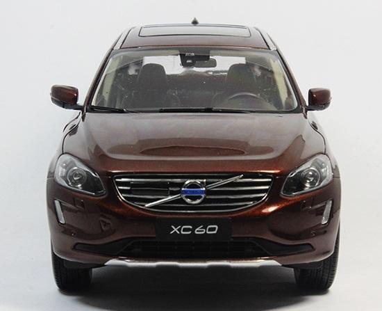 โมเดลรถ โมเดลรถเหล็ก โมเดลรถยนต์ Volvo XC60 brown 4