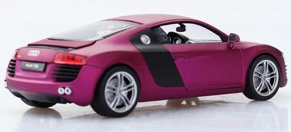 โมเดลรถ โมเดลรถเหล็ก โมเดลรถยนต์ audi r8 purple 4