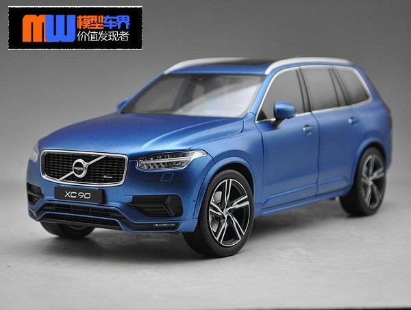 โมเดลรถ โมเดลรถเหล็ก โมเดลรถยนต์ Volvo XC90 blue 2015 1