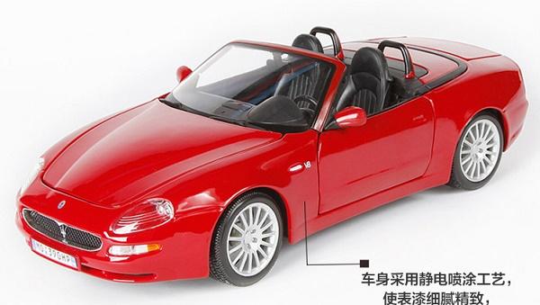 โมเดลรถ โมเดลรถเหล็ก โมเดลรถยนต์ Maserati Spyder red 1
