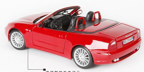โมเดลรถ โมเดลรถเหล็ก โมเดลรถยนต์ Maserati Spyder red 2