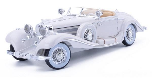 โมเดลรถ โมเดลรถเหล็ก โมเดลรถยนต์ Benz 500K white 1