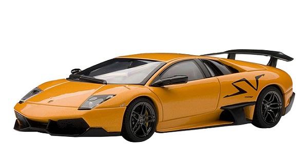 โมเดลรถ โมเดลรถยนต์ โมเดลรถเหล็ก lamborghini LP670-4 SV orange 1