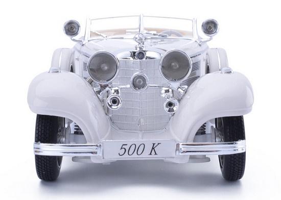 โมเดลรถ โมเดลรถเหล็ก โมเดลรถยนต์ Benz 500K white 4