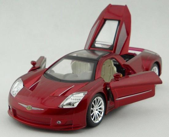 โมเดลรถ โมเดลรถยนต์ โมเดลรถเหล็ก Chrysler M3 แดง 5