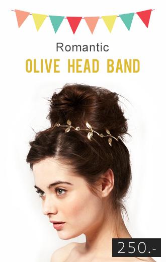 Romantic Olive Head Band ที่ประดับผมใบมะกอกสีทอง ใส่ออกงานสุดเริ่ด