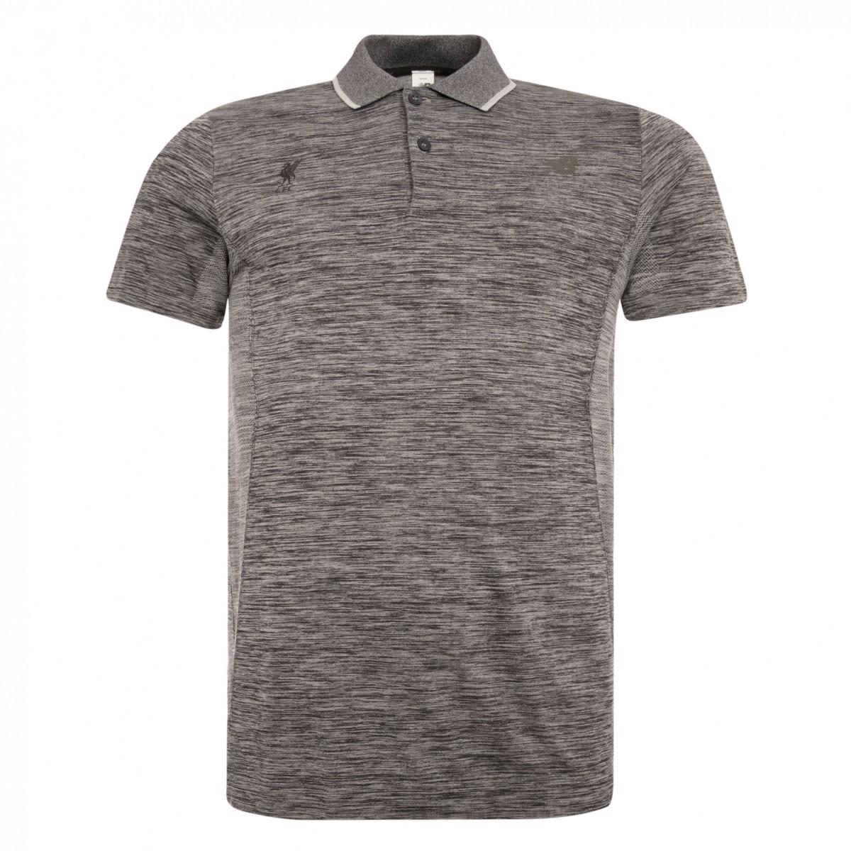 เสื้อโปโลนิวบาลานซ์ลิเวอร์พูลของแท้ New Balance Mens Grey M4M Seamless Polo