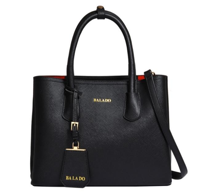 [ พร้อมส่ง Hi-End ] - กระเป๋าสะพาย ใบใหญ่ สีดำคลาสสิค ดีไซน์สวยเรียบหรู ดูดี งานหนัง saffiano คุณภาพดีมาก