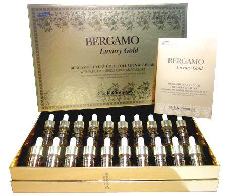 **หมดจ้า** Bergamo Luxury Gold Collagen&Caviar Wrinkle Ampoule (1 กล่อง)