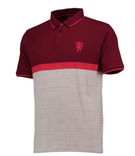 เสื้อโปโลแมนเชสเตอร์ ยูไนเต็ด Vintage Colourblock Polo Shirt ของแท้