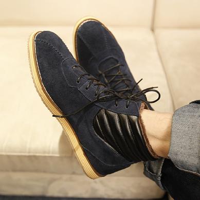 รองเท้าผู้ชาย   รองเท้าแฟชั่นชาย รองเท้าหุ้มข้อ แฟชั่นเกาหลี