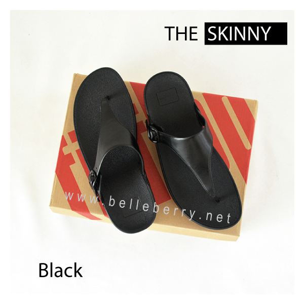 * NEW * FitFlop The Skinny : All Black : Size US 5 / EU 36