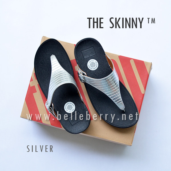 fitflop the skinny silver