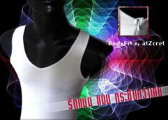 เสื้อกล้ามทอมเต็มตัว รุ่น BodyFit >> สีขาว