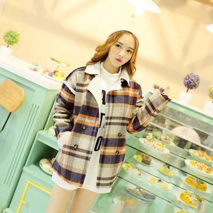 """""""พร้อมส่ง""""เสื้อผ้าแฟชั่นสไตล์เกาหลี ราคาถูก เสื้อโค้ทลายสก๊อตสีโทนน้ำตาล-ครีม-ส้ม กระดุม4เม็ด มีกระเป๋า2ข้าง ด้านในบุขนนุ่มๆ ใส่อุ่นๆกันหนาวค่ะ"""
