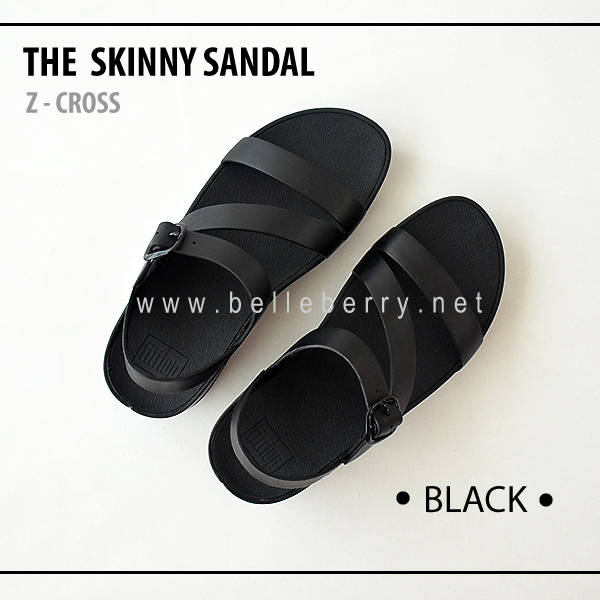 * NEW * FitFlop The Skinny Z-Cross : Black : Size US 7 / EU 38