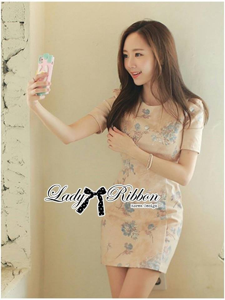 Lady Ribbon's Made Lady Grace Sweet Pastel Mini Flower Printed Dress