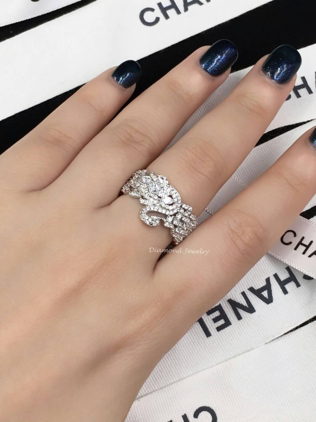 พร้อมส่ง Diamond Ring งานเพชร CZ แท้