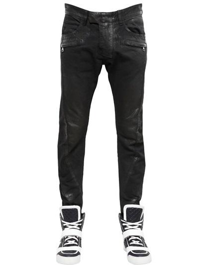 กางเกงBalmain Washed&Waxed Denim Jeans