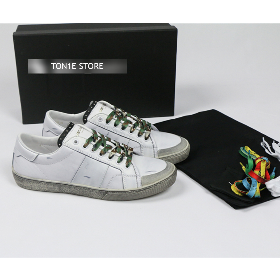 รองเเท้าหนังSAINT LAURENT-Leather Sneaker ss16 (1:1)