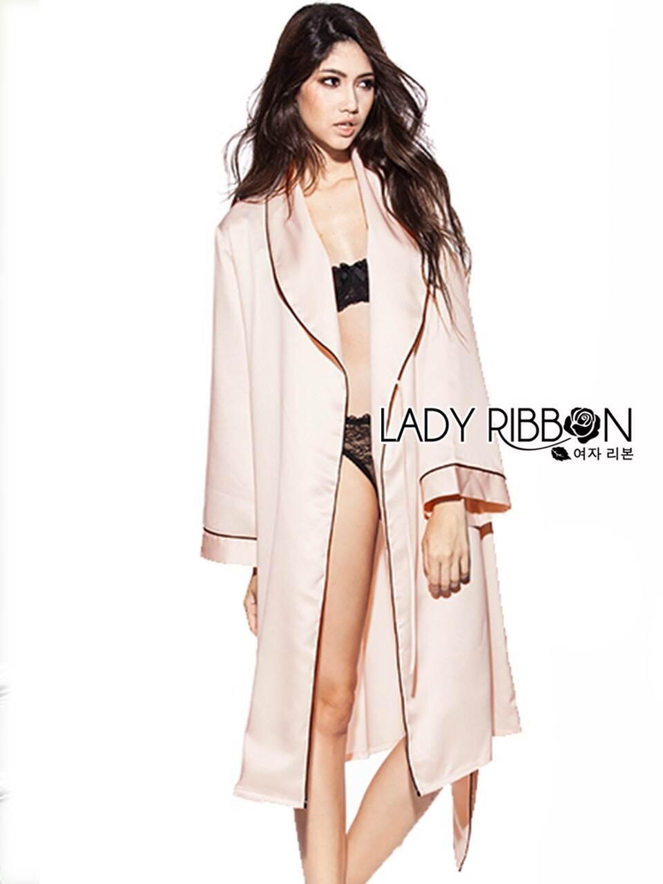 เสื้อผ้าเกาหลี พร้อมส่งชุดคลุมสุดเซ็กซี่ตัวเสื้อคลุมเป็นแบบยาว สบายผิว