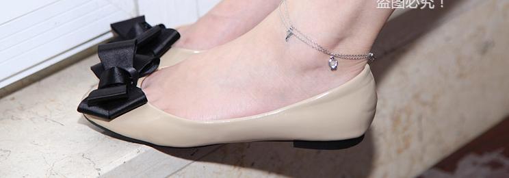 สร้อยข้อเท้าเกาหลีพวงกุญแจคริสตัลระฆัง(สีเงิน)
