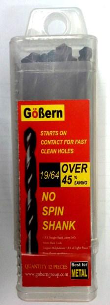 ดอกสว่าน เจาะเหล็กไฮสปีด สีดำ GoBern