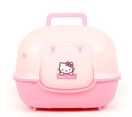 ห้องน้ำแมว Hello Kitty ห้องน้ำแมวสีหวานน่ารักสำหรับสาวกคิตตี้