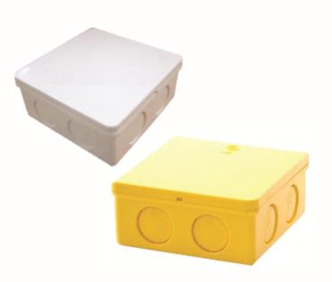 กล่องพักสายเหลี่ยม (สีขาว,เหลือง) ขนาด 4x2