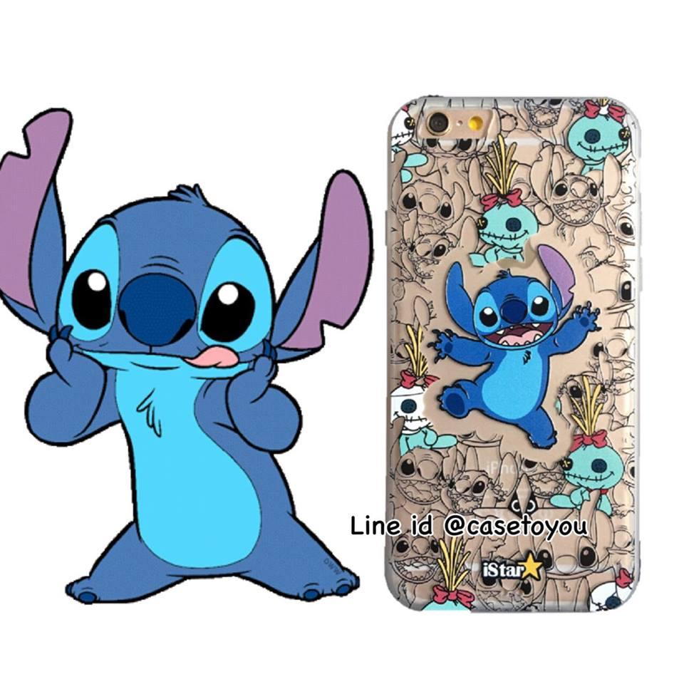 เคสใส สกรีนลายเส้นนูน Stitch iPhone 6 Plus/ 6S Plus
