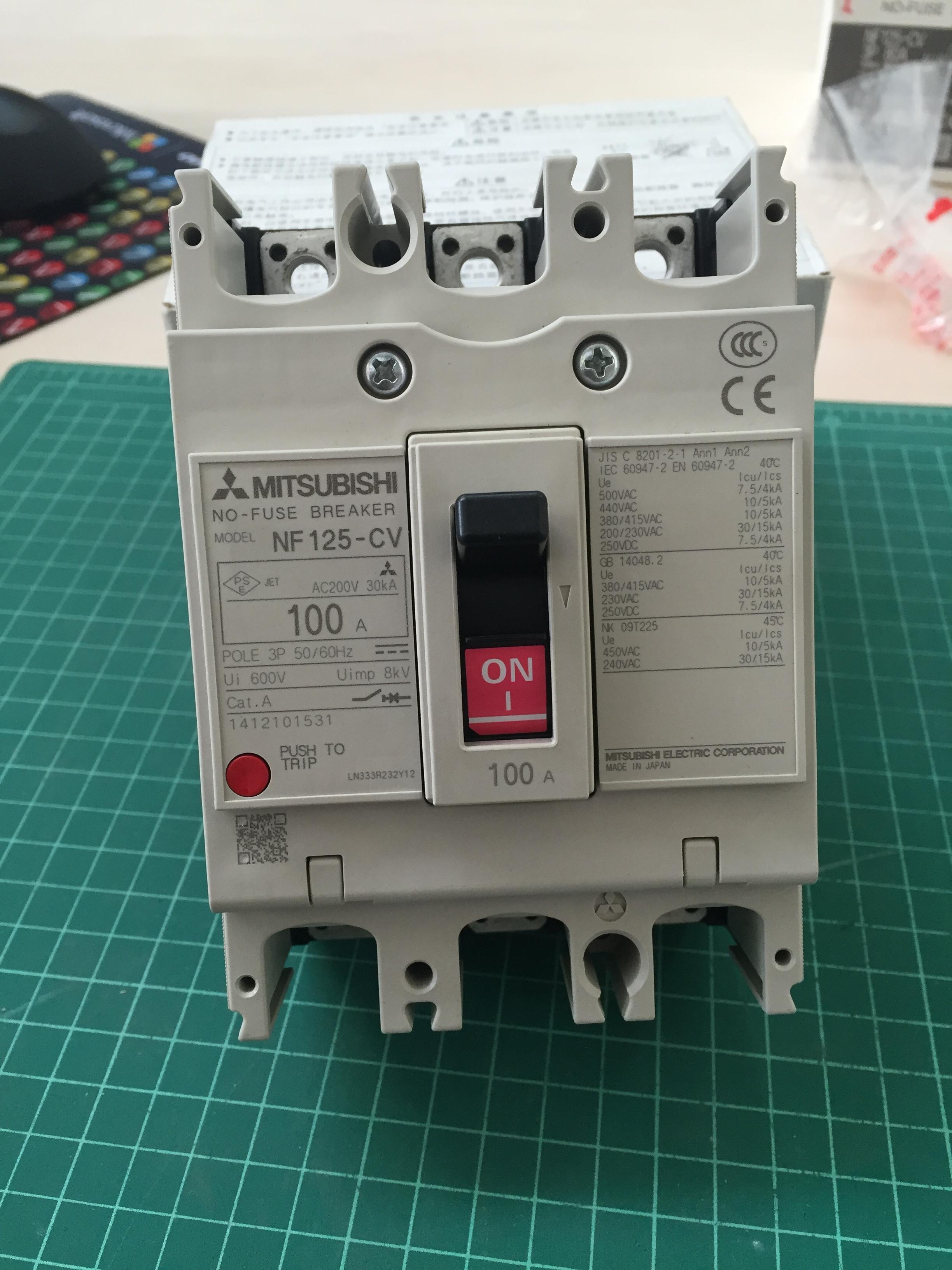 เบรกเกอร์ 3P-125CV-100A (10kA)