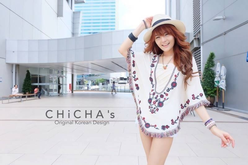 Florally Embroidery Blouse C143-49A15