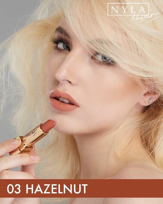 NYLA Lipstick 3 Colors (Gold Set) ไนล่า ลิปสติก