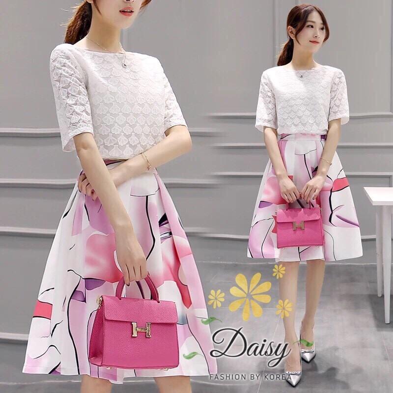 daisy white pink cutie set