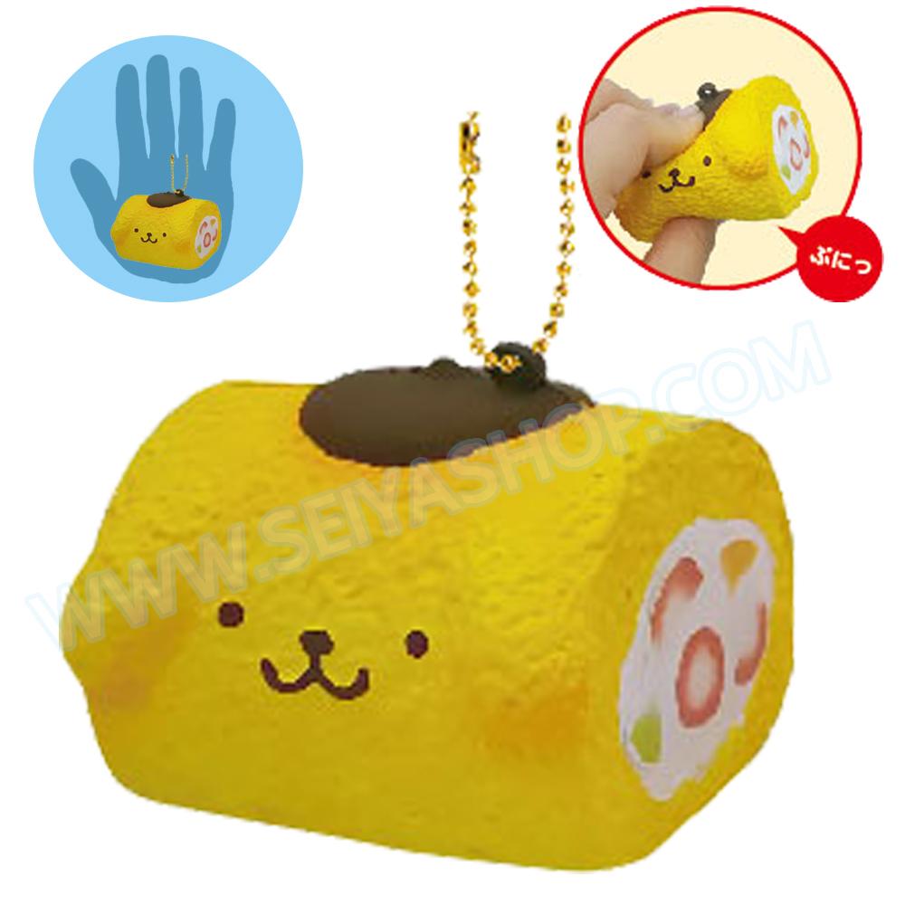 CA816 สกุชชี่ Pompompurin Yamroll สีเหลือง ขนาด 5 cm (Soft) ลิขสิทธิ์แท้