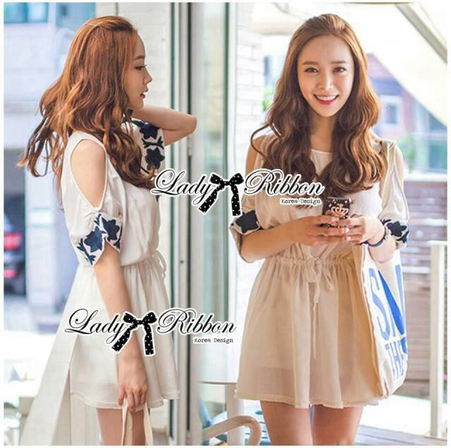 DR-LR-182 Lady Julia Embroidered Cut-Out Babydoll Dress