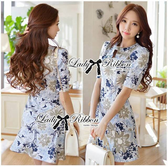 DR-LR-181 Lady Rita Feminine Floral Blooming Dress