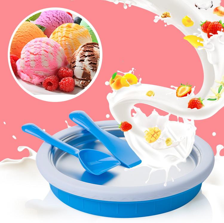J021 เครื่องทำไอศรีม Ice Cream Roll Sherbet Maker Cooking (ทำได้จริง)