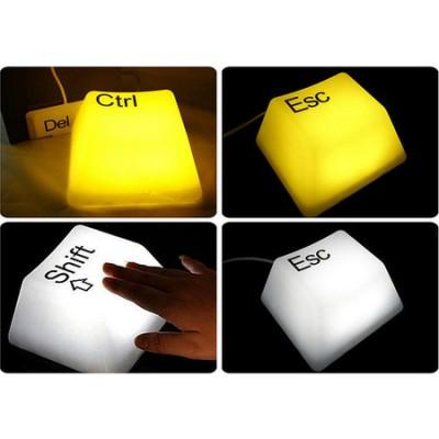 โคมไฟปุ่มคีย์บอร์ด Del Esc Crtl