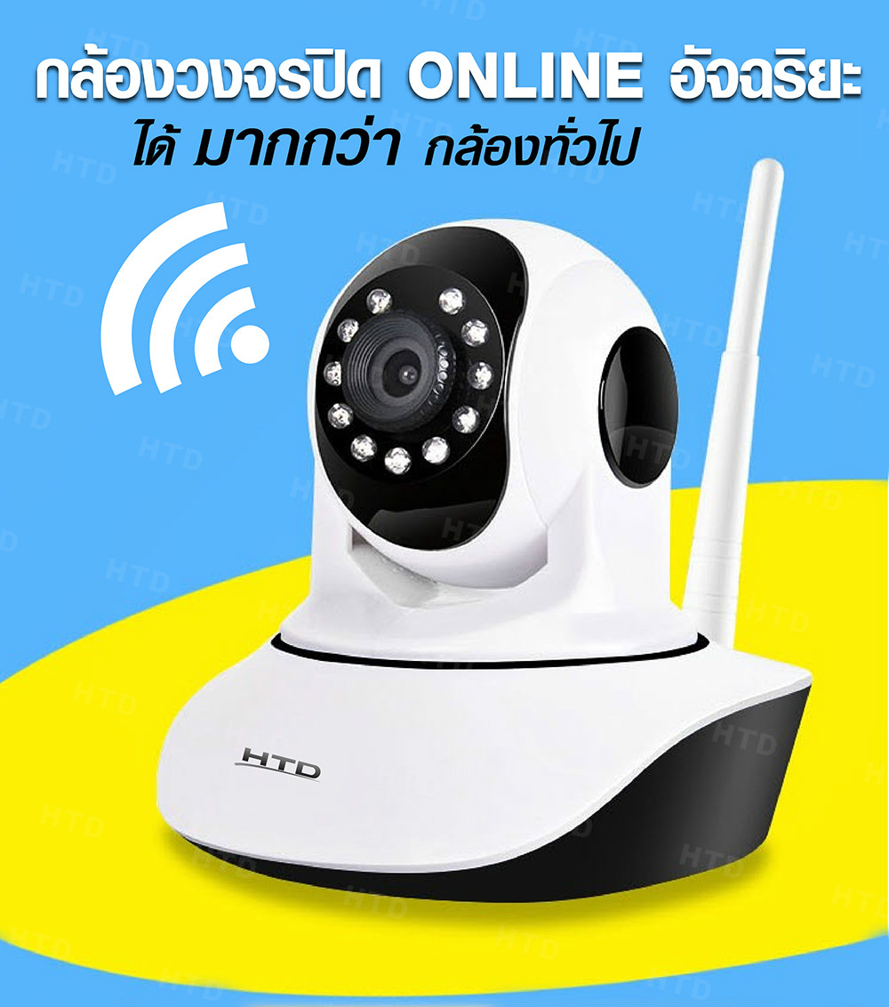 กล้องวงจรปิด IP Carmera 720P Wireless Plug and Play (White)