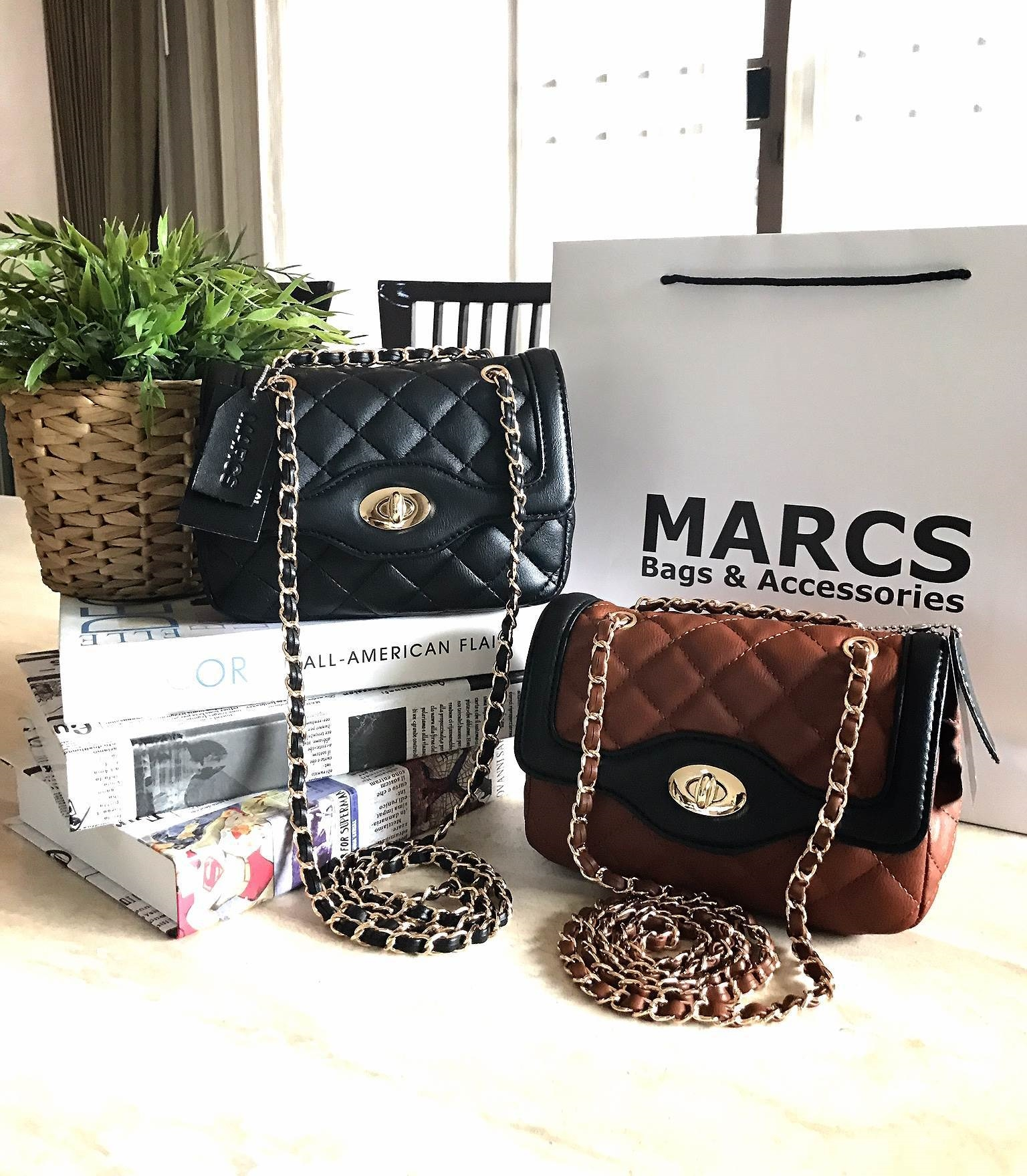 MARCS Mini Quilted Chain Shoulder Bag 2018