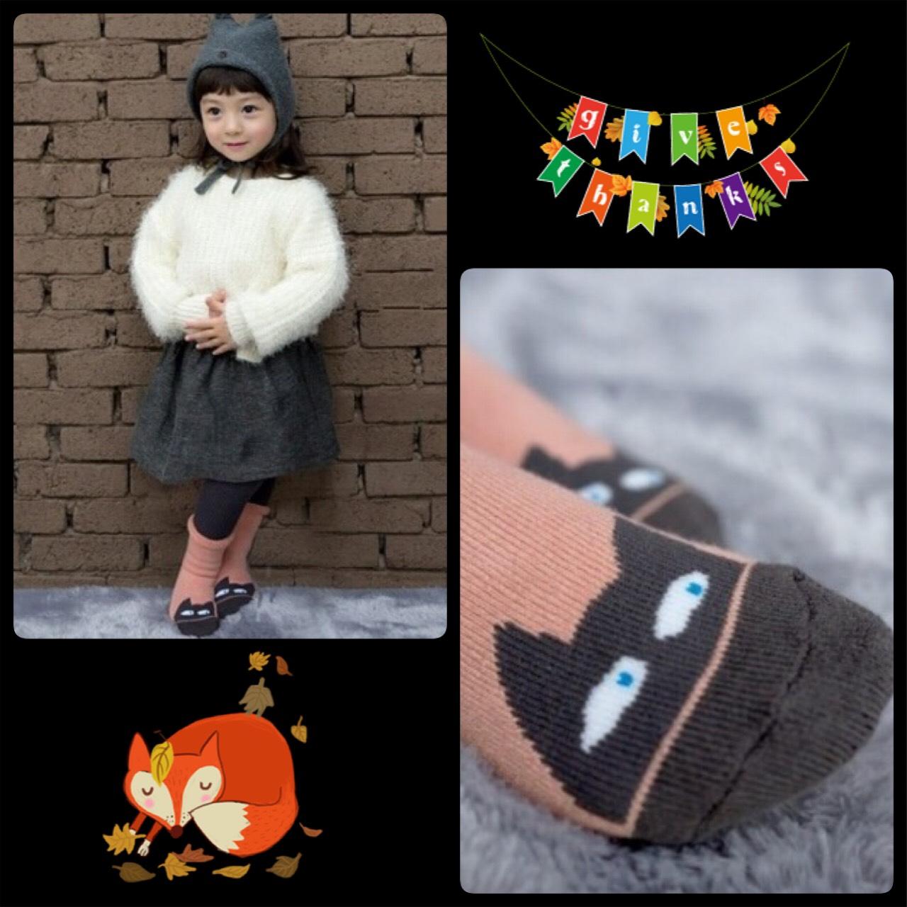 SK098••ถุงเท้าเด็ก•• แมวเหมียว (ข้อสั้น-เลยตาตุ่ม)