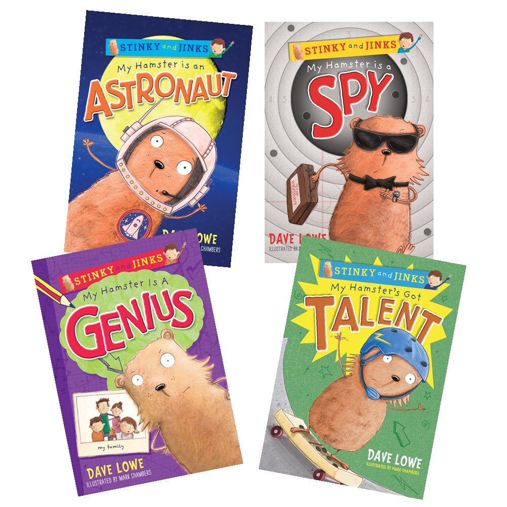 Stinky and Jinks 4 Books Collection 4 Books : My Hamster by Dave Lowe : วรรณกรรมเยาวชน อังกฤษ 4 เล่ม แฮมสเตอร์